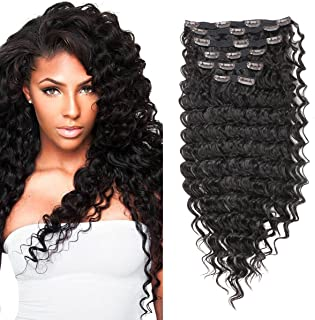 FASHION LINE Synthetic Clip in Hair Extensions Double Weft Full Head Straight/Body Wave/Deep Wave 7 Pieces(24
