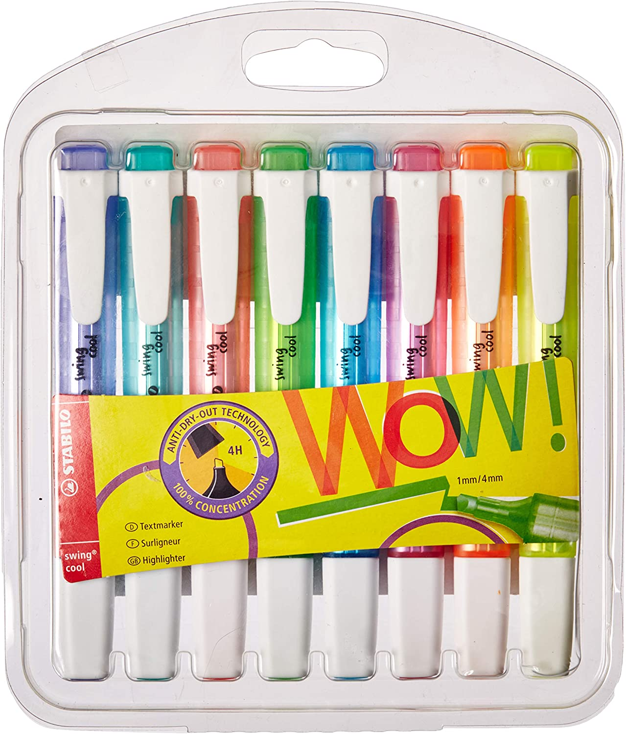 STABILO swing cool Pastel 4 Assorted Colours Highlighter