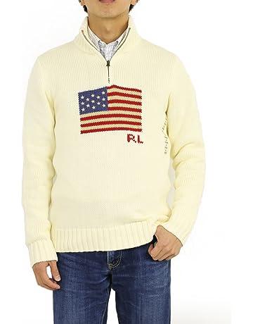 9d3652a9f2da7 (ポロ ラルフローレン) POLO Ralph Lauren ボーイズ アメリカ国旗 ハーフジップセーター ニット プル