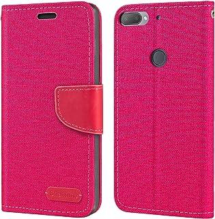 جراب HTC Desire 12 Plus، جراب محفظة جلد أكسفورد مع غطاء خلفي ناعم من مادة TPU لهاتف HTC Desire 12+