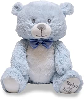 "Cuddle Barn Baby's First Teddy Lullaby Blue Animated Singing Teddy Bear, 10"", Multi Color"