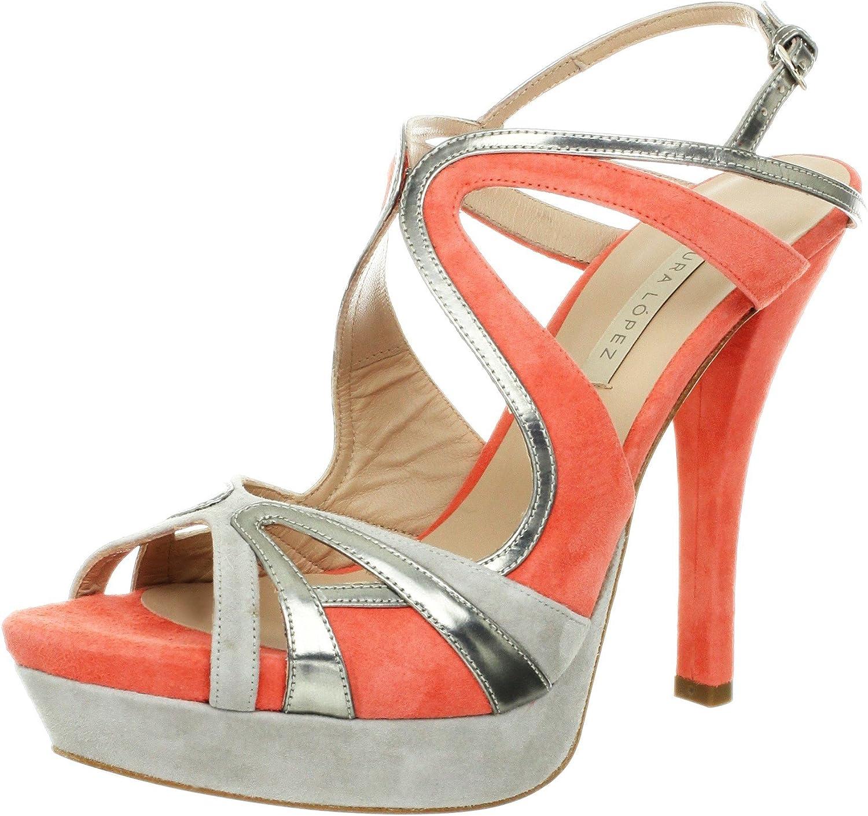 Pura Lopez Women's Open Toe Strappy Platform Sandal