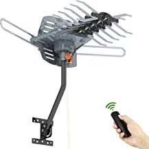 Philex Outdoor Amplified Digital HDTV Antenna, UHF/VHF Snap 150 Miles Long Range 360 Degree Wireless Rotation 33FT Coaxial Cable with Mounting Pole Support 2 TVs