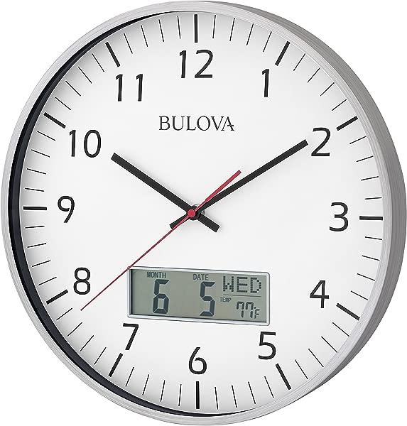 Bulova C4810 Manager Wall Clock Silver