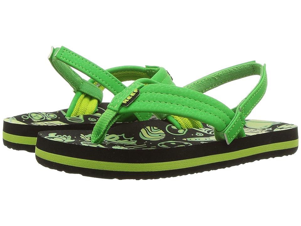 Reef Kids Ahi Glow (Toddler/Little Kid/Big Kid) (Green UFO) Boys Shoes