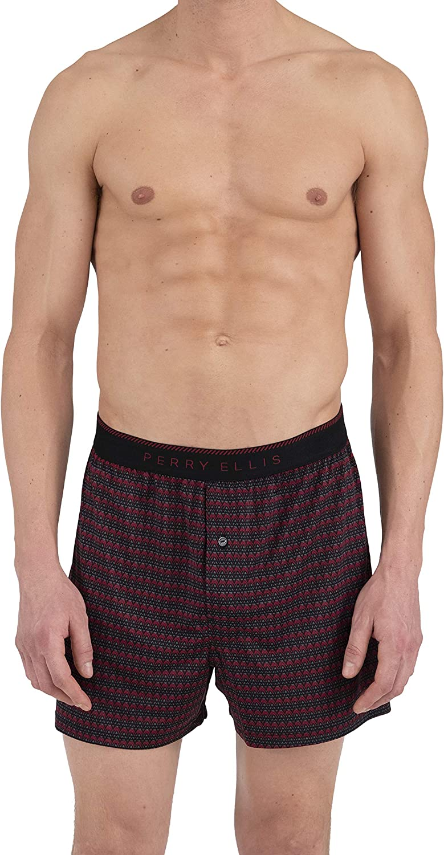 Perry Ellis Mens Chevron Stripe Luxe Boxer Short