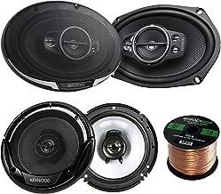 2 Pair Car Speaker Package of 2X Kenwood KFC-6995PS 1300-Watt 6x9 5-Way Performance Series Flush Mount Coaxial Speakers + 2X KFC-1665S 6 1/2
