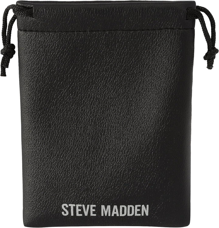 Steve Madden 45mm Rhinestone Thin Hoop Earrings for Women