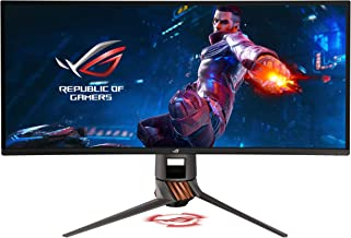 "Asus ROG Swift PG349Q 34"" Curved G-Sync Gaming Monitor 120Hz 3440 X 1440 IPS with Eye Care Aura Sync DP HDMI (Renewed)"