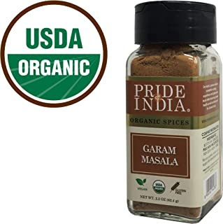 Pride Of India -Organic Garam Masala Ground, 2.2 oz (62 gm) Dual Sifter Jar, Certified Pure & Vegan Indian Blend Spice, Perfect Seasoning- BUY 1 GET 1 FREE (MIX AND MATCH - PROMO APPLIES AT CHECKOUT)