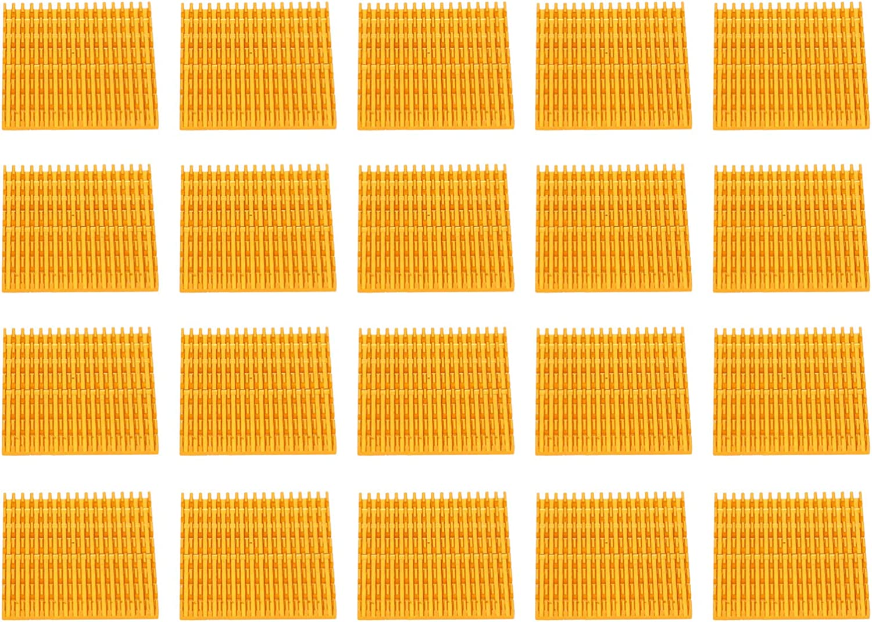 Heatsink Module Golden 37x4x37mm 3D Printer Cooling Fin 3D Printer Accessory 3D Printer Heatsink Aluminum Radiator IC Radiators CPUs for Routers