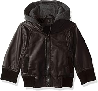 Baby Boys Faux Leather Jacket