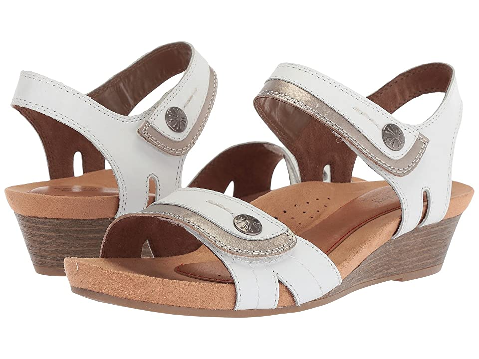 Rockport Cobb Hill Collection Cobb Hill Hollywood Two-Piece Sandal (White Leather) Women