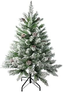 Northlight Frosted Flocked and Iced Christmas Trees, Green