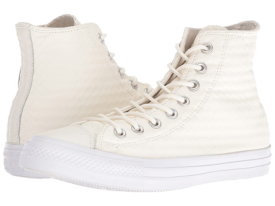 Converse Chuck Taylor(r) All Star(r) Craft Leather Hi (White/White/White) Athletic Shoes