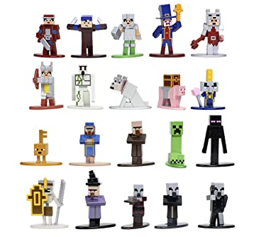"""Minecraft Dungeons Nano Metalfigs 1.65"""" Die-cast Collectible Figures 20-Pack Wave 4, Toys for Kids and Adults"""