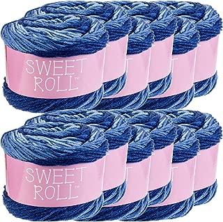Premier Yarns 98376 Sweet Roll Yarn 12/Pk, Blueberry Swirl Pack