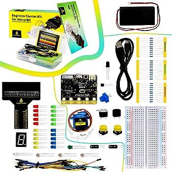 KEYESTUDIO BBC Micro:bit マイクロビット 初心者 子供 小学生 セット Microbitスターターキット 電子工作 プログラミング おもちゃ キット 実験キット 知育玩具