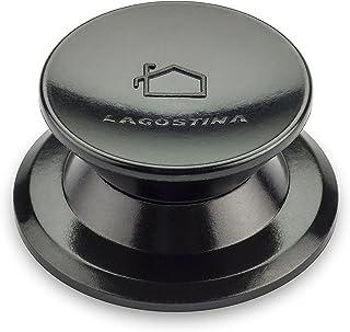Lagostina - Perilla de repuestos para Tapa de ollas - Fabricada en Material plástico - Color Negro Misura 2 Negro
