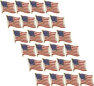 Juvale American Flag Lapel Pins (USA, Bulk, 24 Pack)