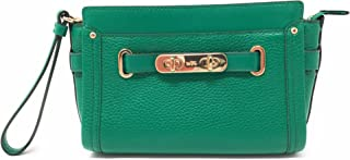 COACH Swagger Wristlet/Crossbody in Pebble Leather 53032