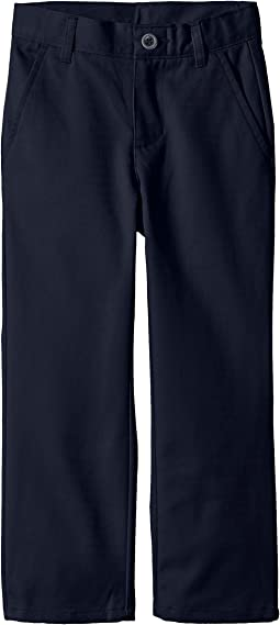 Slim Flat Front Twill Double Knee Pant (Little Kids/Big Kids)
