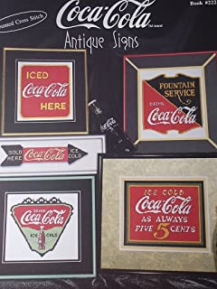 Coca-Cola Antique Signs Counted Cross Stitch