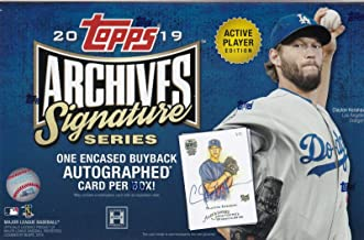 2019 Topps Archives Signature Series Active Player MLB Baseball box (1 card)