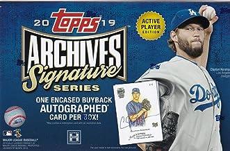 2019 Topps Archives Signature Series Active Player MLB Baseball box (1 card)