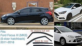 J/&J AUTOMOTIVE DEFLETTORI ARIA ANTITURBO per FORD S-Max 2010-2015 4 pezzi