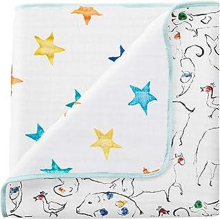 aden + anais (エイデンアンドアネイ) 【日本正規品】 モスリンコットン ミニ ドリームブランケット (カラーポップ) mini dream blanket (color pop) 6082