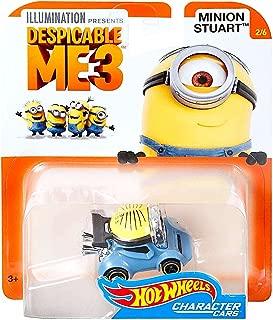 DieCast Hot Wheels Despicable Me 3 Minion Stuart Character Car #2/6