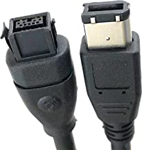 Micro Connectors, Inc. 10 feet Firewire IEEE 1394 9 Pin to 6 Pin Cable (E07-239)