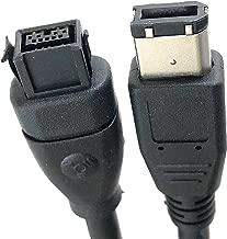 Micro Connectors, Inc. 6 feet Firewire Cable 1394B 9 Pin to 6 Pin (E07-238)
