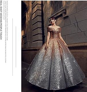 Wedding Dress Evening Dress One Shoulder Prom Chapel Women Lady B XXL