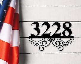 Higoss Gepersonaliseerd metalen adresbord, Adres nummer teken, Metalen huisnummers, Adres plaque, Adres nummers, Metalen a...