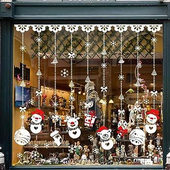 TedGem Pegatinas de Navidad, Pegatinas de Navidad Monigote de Nieve Fiesta extraíbles, Dos Estilos Hacen Que el Hogar esté Lleno de Ambiente Navideño
