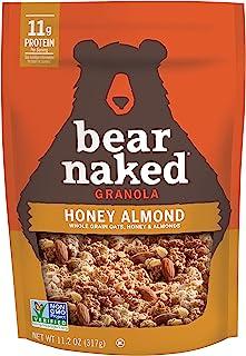 Sponsored Ad - Bear Naked Honey Almond Granola - Non-GMO, Kosher, Vegetarian Friendly - 11.2 Oz (Pack of 6)