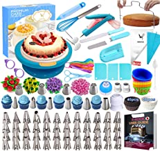 Cake Decorating Supplies Kit 280 PCS Baking Set for Beginners with Cake Turntable Stand Rotating Turntable,Russian Piping ...
