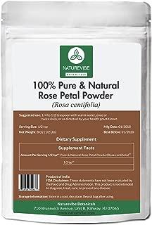 100% Pure & Natural Rose Petal Powder (1/2lb) by Naturevibe Botanicals (8 ounces) For Hair