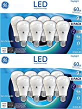 GE 60W Replacement Daylight LED 8 Pack (16 Pack, Daylight)