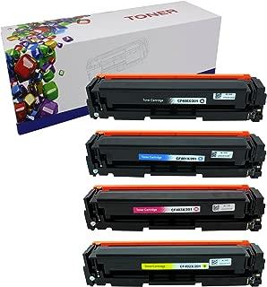 HIINK Toner Replacement for HP 201 CF400 CF401 CF402 CF403 Color Toner Use with HP Laserjet M252dw M277dw M277n(Black, Cyan, Magenta, Yellow, 4-Pack)