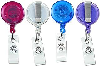 بكرة بطاقة الهوية شفافة قابلة للسحب مع مشبك حزام، بطول 76.2 سم، عبوة من 12 قطعة، شفافة (75473) من أدفانتوس