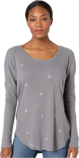 Primal Scattered Stars Carefree Pocket Long Sleeve T-Shirt