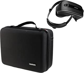 Navitech Black Heavy Duty Rugged Hard Case/Cover with Shoulder Strap Compatible with The Lenovo Explorer Windows Mixed Reality Headset