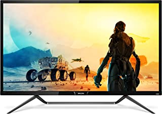 Philips 436M6VBPAB 4K HDR Display With Ambiglow LED Gaming Monitor, 43 inches - Black Glossy