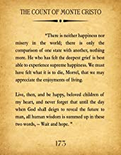 The Count of Monte Cristo Quote Monte Cristo Book Page Alexander Dumas Quote Monte Cristo Wall Art Book Page Large Book Print Book Poster (16 x 20, Vintage)