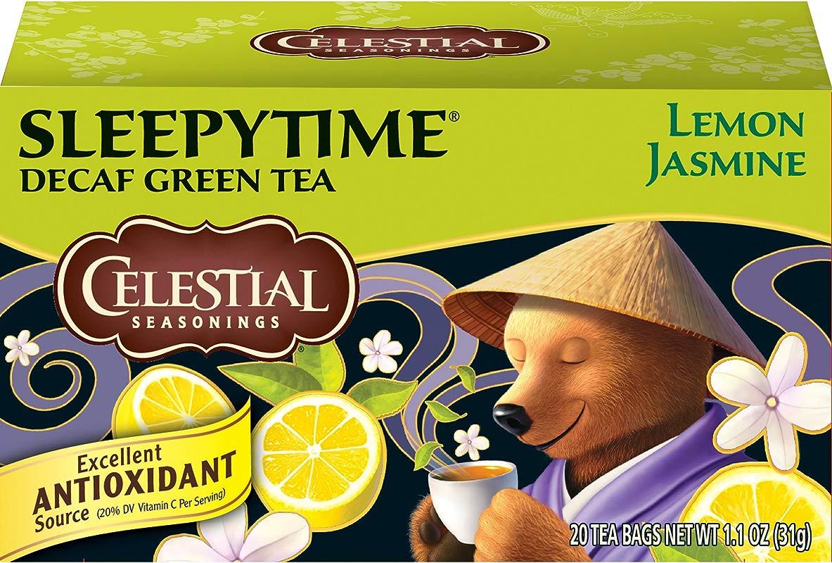 Celestial Seasonings Green Tea Sleepytime Decaf Lemon Jasmine 20 Count Pack Of 6