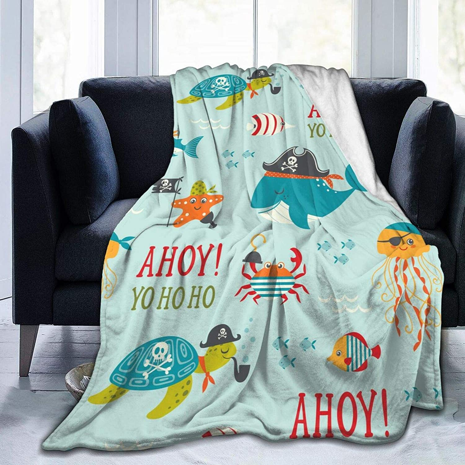 Fehuew Flannel Twin Size Blanket Childish Plu Jellyfish Ranking TOP2 Seamless Popular shop is the lowest price challenge