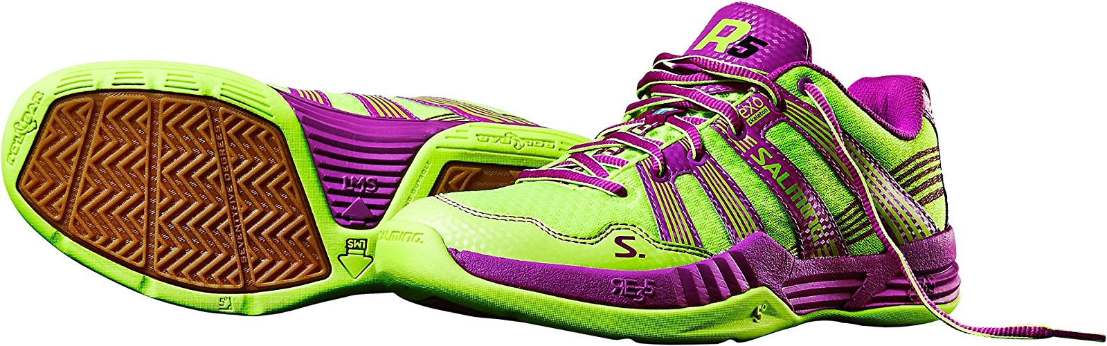 Chaussures Salming Race R5 jaune violet-42